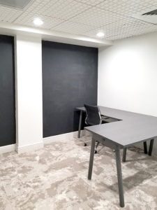 Miami Beach private office space with chalk walls
