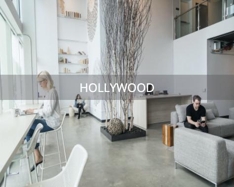 Main lobby of Hollywood office